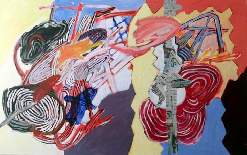 A pintura e a tempestade - 80x130 cm
