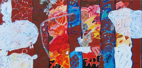 A Pintura e suas mudanças - 80X160 cm