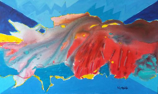A pintura vista de cima