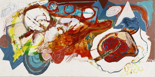 A pintura e a visita da Nina - 100x200 cm