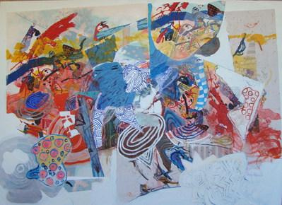 A pintura e a enseada - 100x140 cm