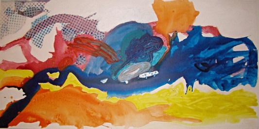 A pintura e seus losangos - 100 x200 cm