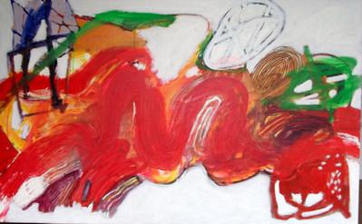A pintura e a grande passagem - 130x80 cm