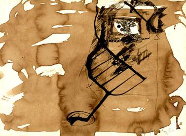 Bico de pena em terra - 23X32 cm
