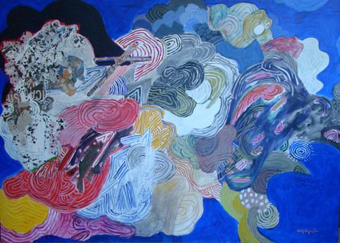 A pintura e suas dobras - 100x140 cm