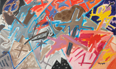 A pintura, o cinza e as cores