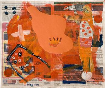 Devaneio sobre jornal XIII - 54x62,5 cm