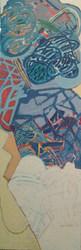 A pintura vertical e o azul