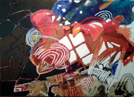 A pintura  entre soluções - 100x140 cm