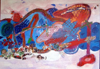 A pintura azul - 100x140 cm