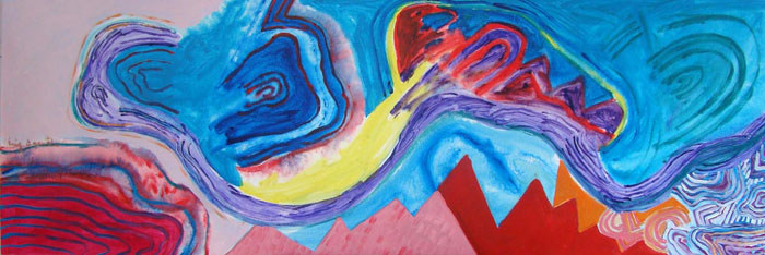 A Pintura e o quadro novo - 60x180 cm