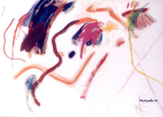 Pintura com Vários Sinais - 100X140 cm