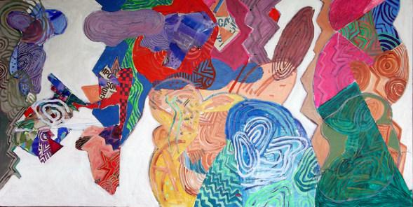 A pintura e o relacionamento - 160x80 cm