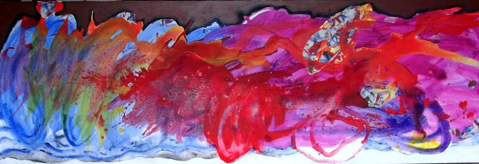 A pintura e o rio encarnado - 180x60 cm
