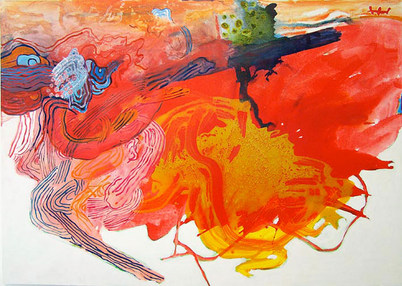 A Pintura, o Vermelho, e Suas Linhas