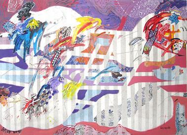 A Pintura com nome Julia - 100X140 cm