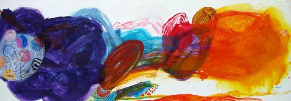 A Pintura e o andar da pintura - 60x180 cm