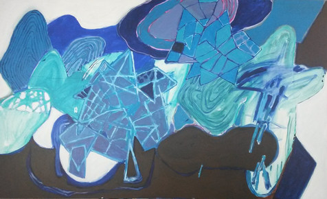 A pintura e a Costa azul - 110x180 cm