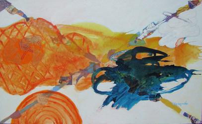A pintura e seu encontro - 60x130 cm