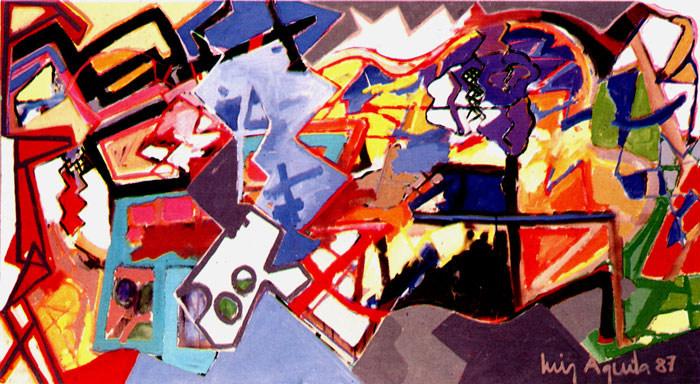 A Pintura e os Azuis - 110X200 cm