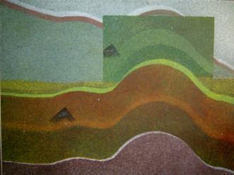 Curva e Quadrado - 69X72cm