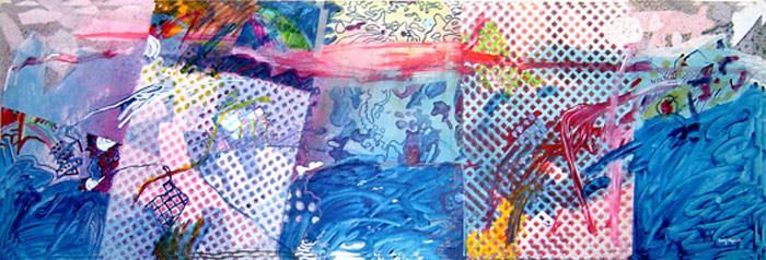 A Pintura com Treliça - 60X180 cm