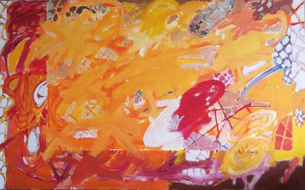 A pintura e a manhã - 80x130 cm