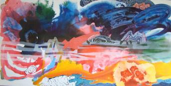 Pintura pela manhã - 100x200 cm