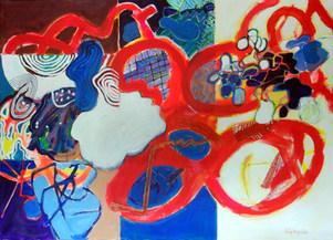 A pintura e o desenho animado - 100x140 cm