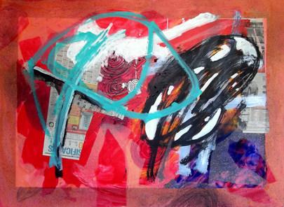 A pintura e  o quase verão - 140x100 cm