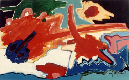 Pintura com Verde à Esquerda- 80X130 cm