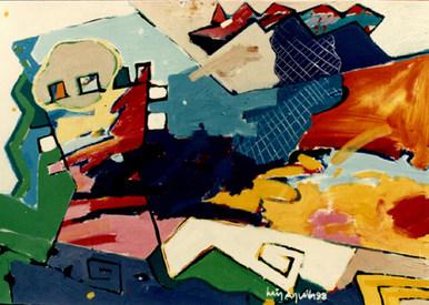 Pintura vista do castelo - 100X140 cm