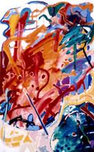 A Pintura e o título em pé - 130X80 cm