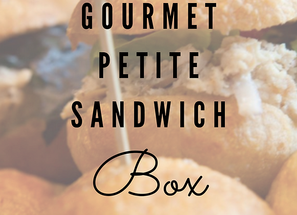 Gourmet Petite Sandwich Box (per box)