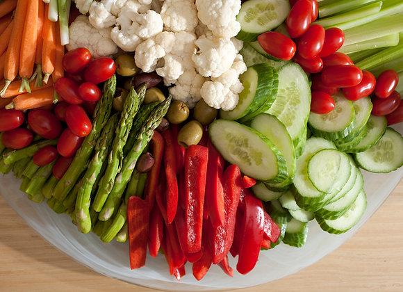 Fresh Crudité & Hummus Plate