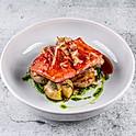 Дикий лосось в соусе унаги с жареным картофелем черри