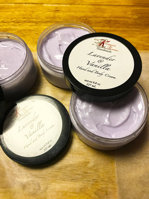 Lavender and Vanilla Hand & Body Cream