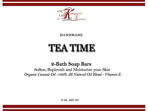 Tea Time - Two 4 oz. Soap Bars