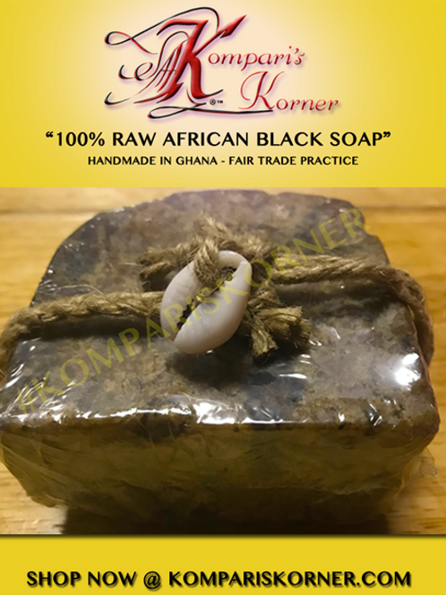 100% Raw Pure African Black Soap