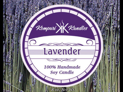 Lavender Candle 100% Soy