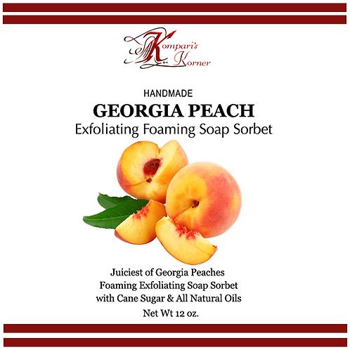 Georgia Peach Exfoliating Foaming Soap Sorbet 12 oz. Tub