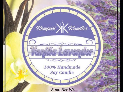 Vanilla Lavender Candle 100% Soy