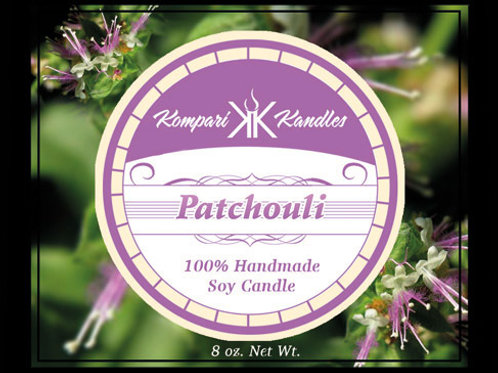 Patchouli Candle 100% Soy