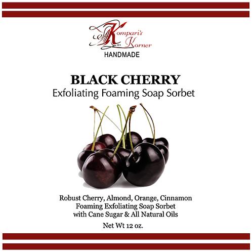 Black Cherry Exfoliating Foaming Soap Sorbet 12 oz. Tub