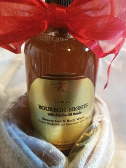 Bourbon Nights Shower Gel & Body Gift Basket