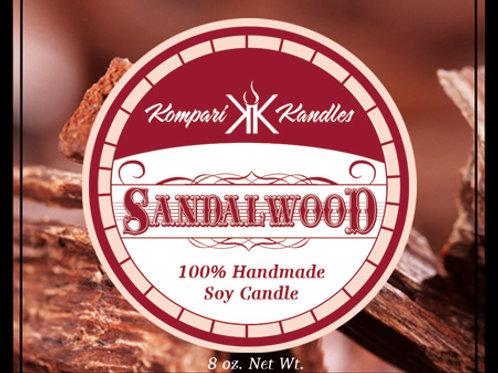 Sandalwood Candle 100% Soy