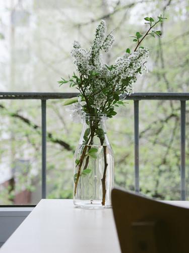 Des fleurs sur un balcon