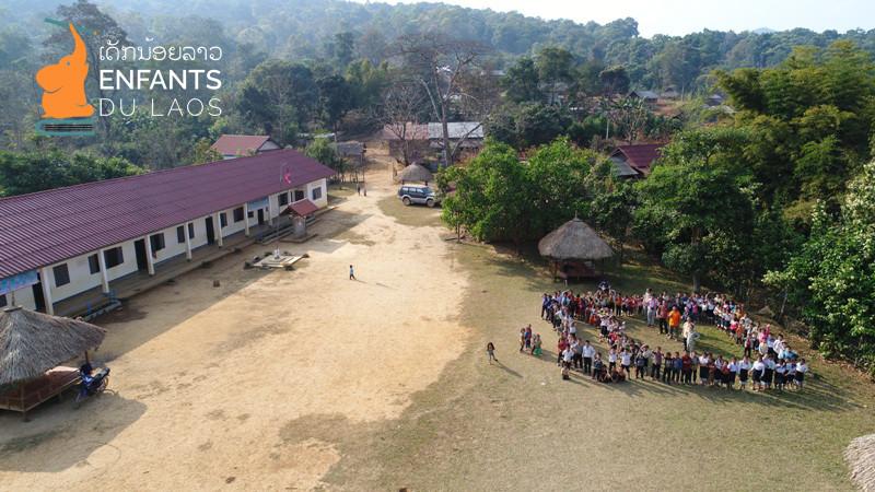 Enfants du Laos, site de l'école informatique