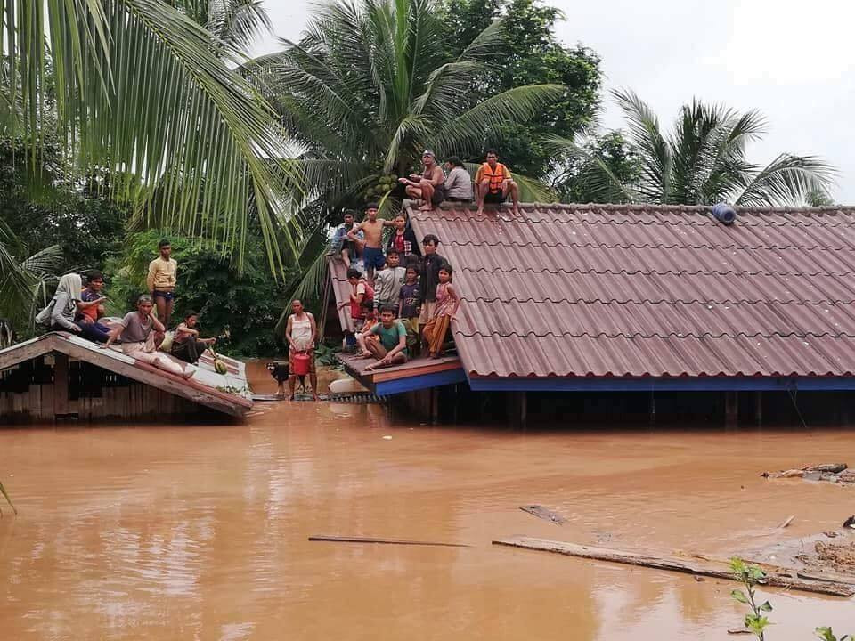 laos attapeu dam broke flooding