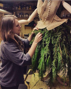 Mannequin made with fresh greens